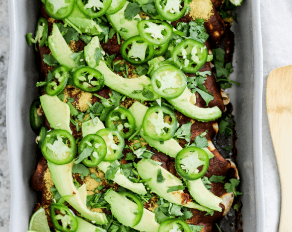 spinach mushroom walnut enchiladas recipe