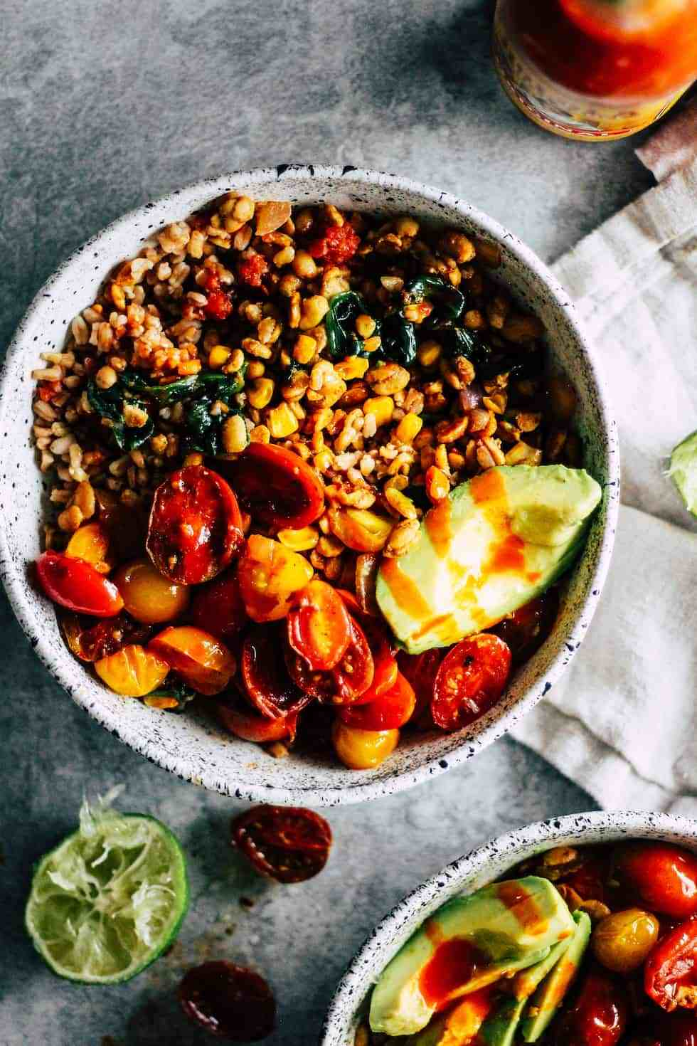 Burrito Bowls are vegetarian lunches to pack for school or work.