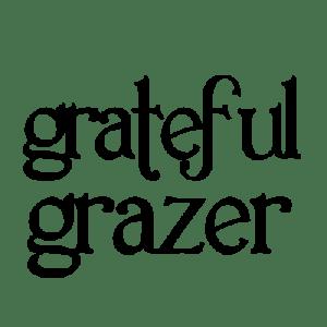 Grateful Grazer logo black text