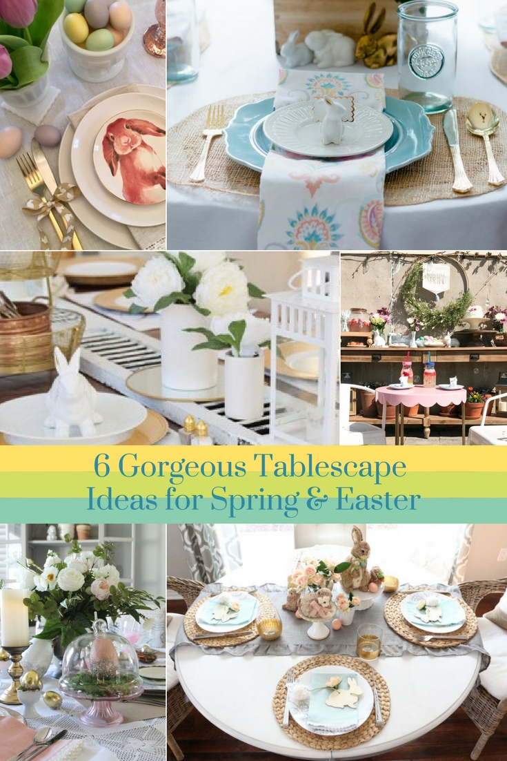 spring-easter tablescape blog hop - gratefully vintage