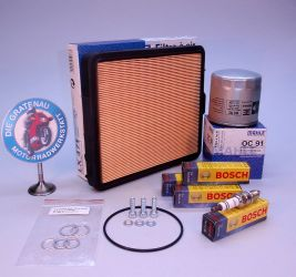 Ölfilter, Dichtungen, Dichtringe, Zündkerzen Bosch, Luftfilter Mahle LX 471
