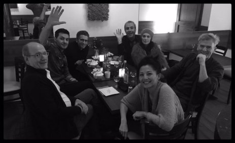 """2016 BW of having a meal with """"Berlin Station"""" colleagues"""