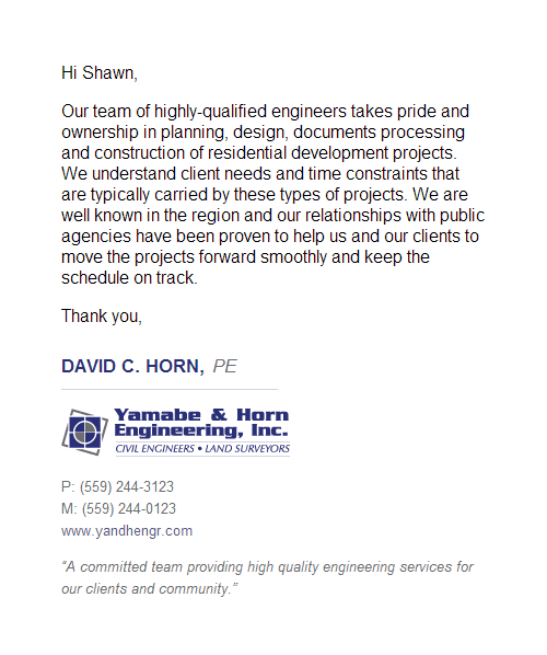 Yamabe & Horn Engineering Inc Email Signature Design