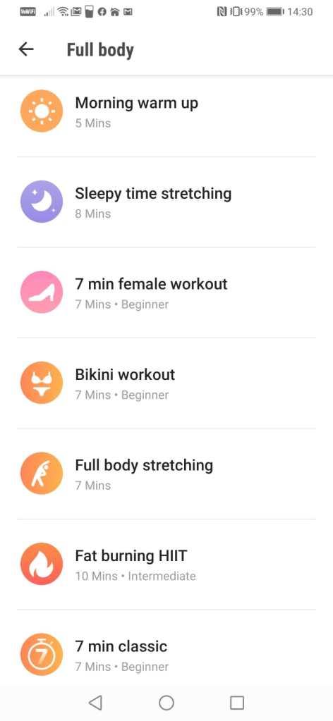 exercitii fizice pe mobil