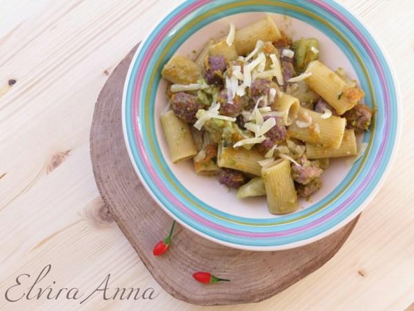 pasta broccoli zucca e salsiccia