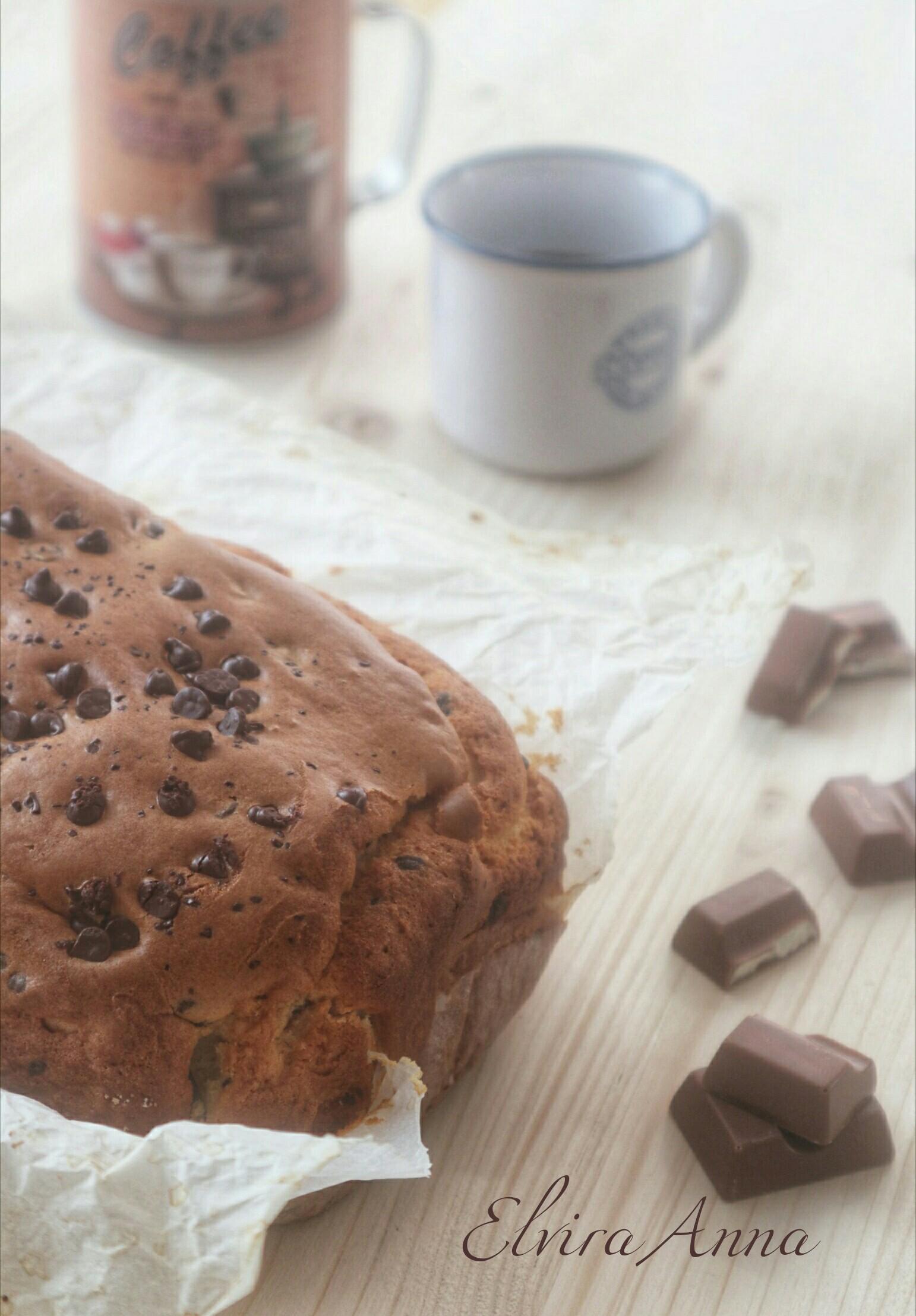 plumcake al cioccolato bianco