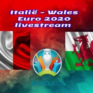 EK Voetbal live stream Italië - Wales