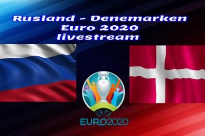 EK Voetbal live stream Rusland - Denemarken