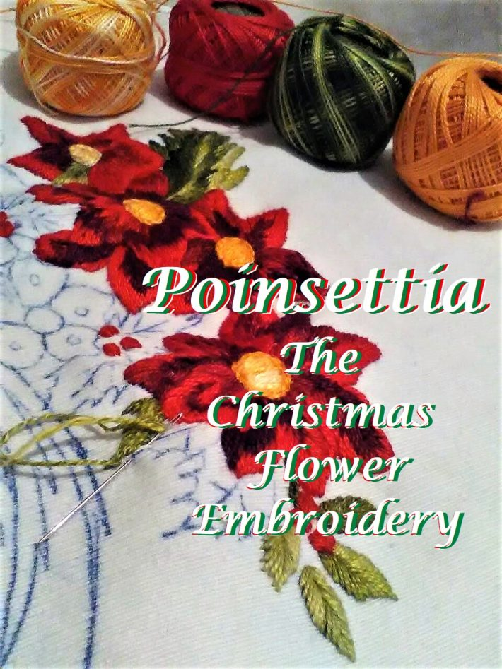 Poinsettia, The Christmas Flower Embroidery