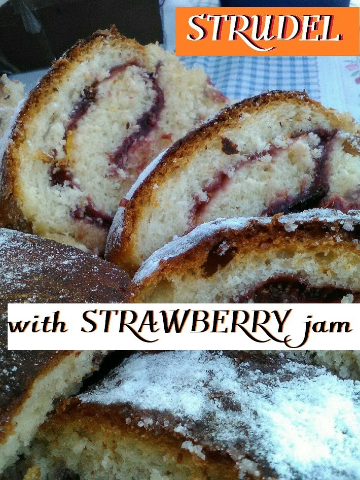 Strudel with Strawberry jam