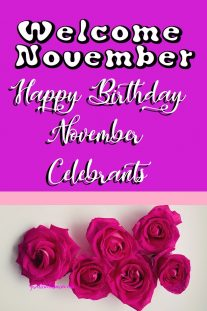 Welcome November Happy Birthday