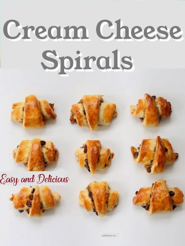 CREAM CHEESE SPIRALS
