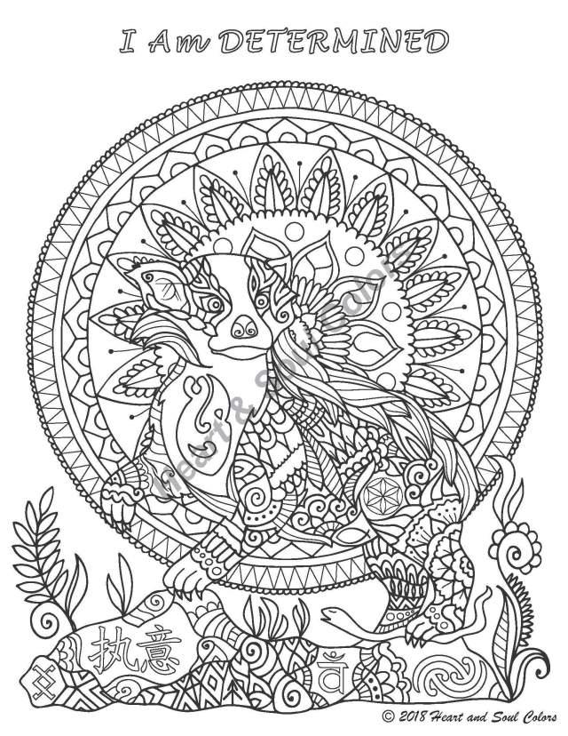 Badger: I Am DETERMINED Coloring Sheet « Gratitude Rocks!