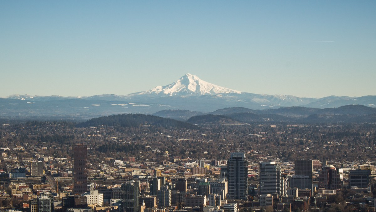 Portland, Oregon and Mount Hood