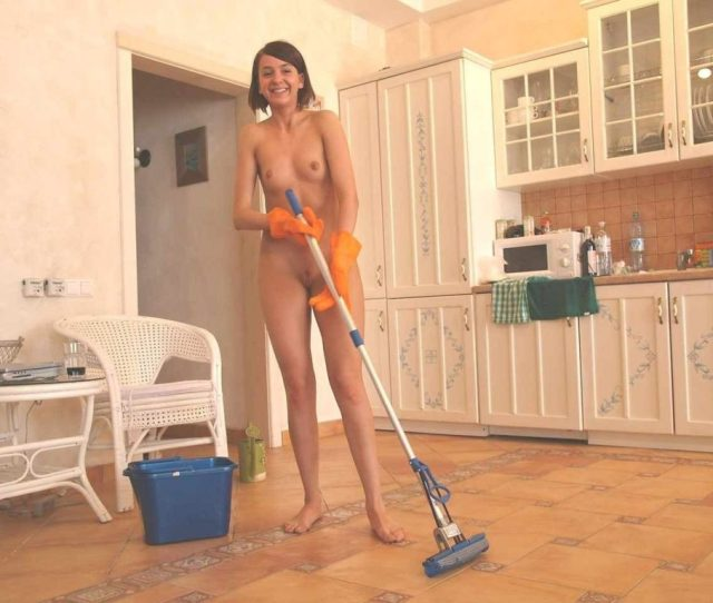 Naked Women Cleaning House Nude