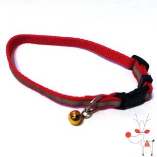 Curea sau zgarda cu clopotel, material textil, caini, pisici