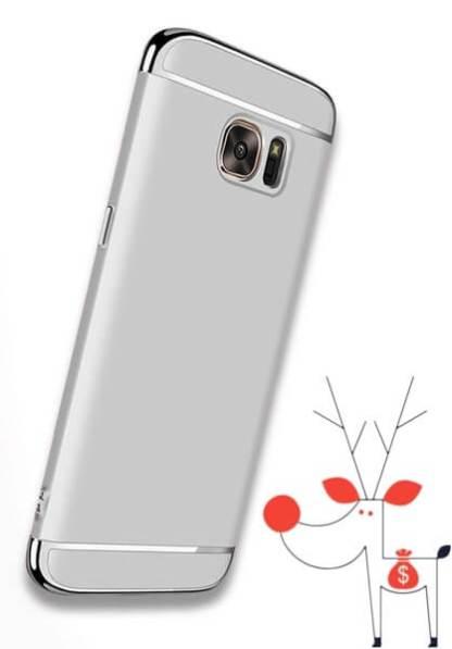 Carcasa electroplacata Samsung Galaxy S7 edge, husa slim protectie spate
