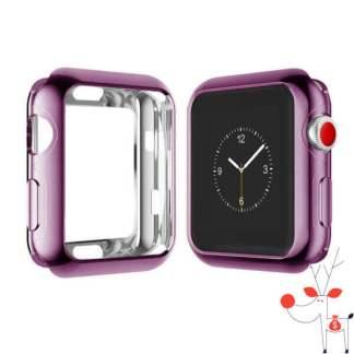 Carcasa silicon Apple Watch 42mm, husa protectie spate margini ecran, Seria 1, 2 si 3
