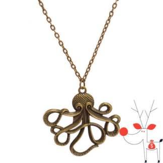 Pandantiv in forma de caracatita cu tentacule din bronz