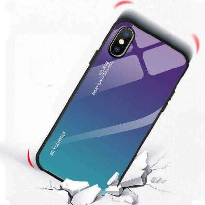 Carcasa protectie premium iPhone XS Max, spate din sticla