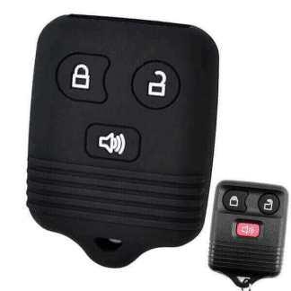 Husa protectie silicon carcasa cheie telecomanda auto Ford, 3 butoane
