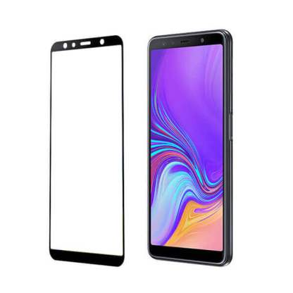 Folie sticla Samsung Galaxy A7 (2018), Full Cover 3D, Tempered Glass, protectie ecran display telefon