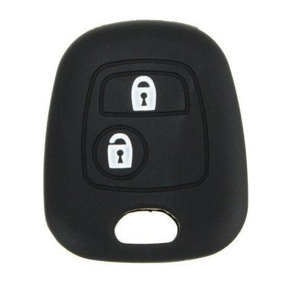 Protectie silicon carcasa cheie Peugeot, husa cheie auto, 2 butoane