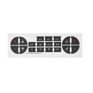 Sticker butoane panou comanda climatizare Chevy, GMC
