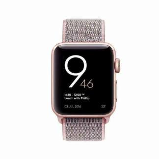 Bratara nylon Apple Watch 38mm, curea ceas seria 1, 2, 3, roz nisip