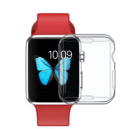 Husa silicon Apple Watch Seria 1, 38mm, carcasa protectie margini ceas