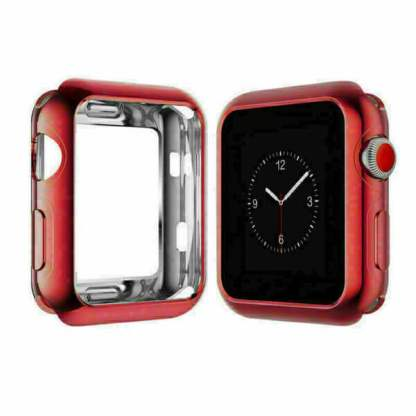 Carcasa silicon Apple Watch 38mm, husa protectie spate margini ecran