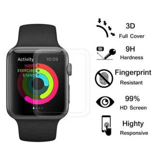 Folie sticla Apple Watch 5, 40mm, Tempered Glass, protectie full ecran
