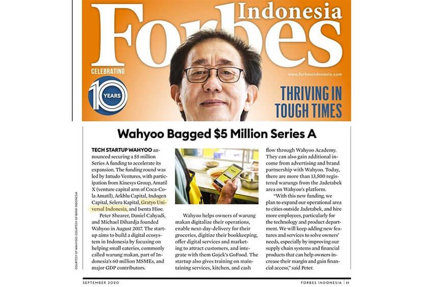 GRATYO Investasi Bisnis di Start-up Series A