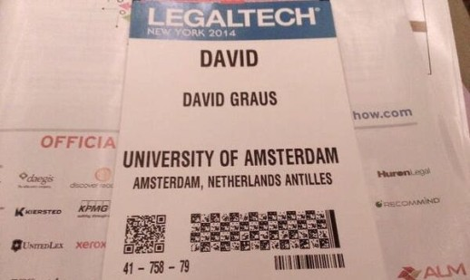 David Graus at LegalTech