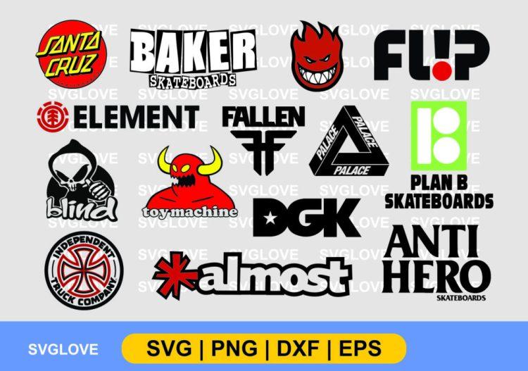 skateboard brand logo svg