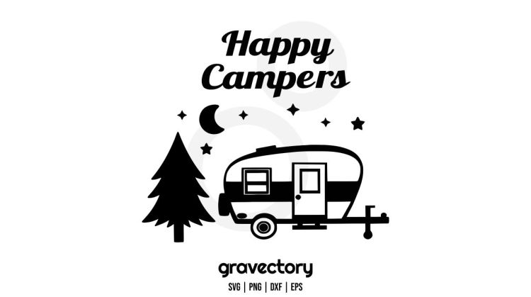 happy campers svg