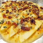 Apple Bacon Naan Pizza