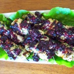 Herby Chicken Skewers with Blueberry Salsa