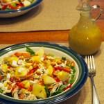 Fall Salad with Pumpkin Maple Vinagrette