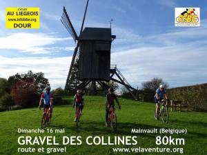 Windmühle Fahrradfahrer Gravelbike