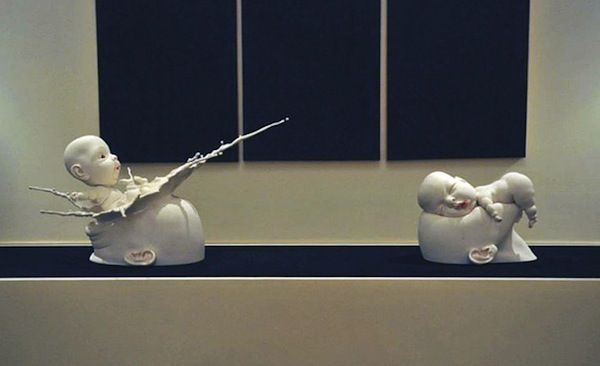 WTF Baby Sculptures  by Johnson Tsang
