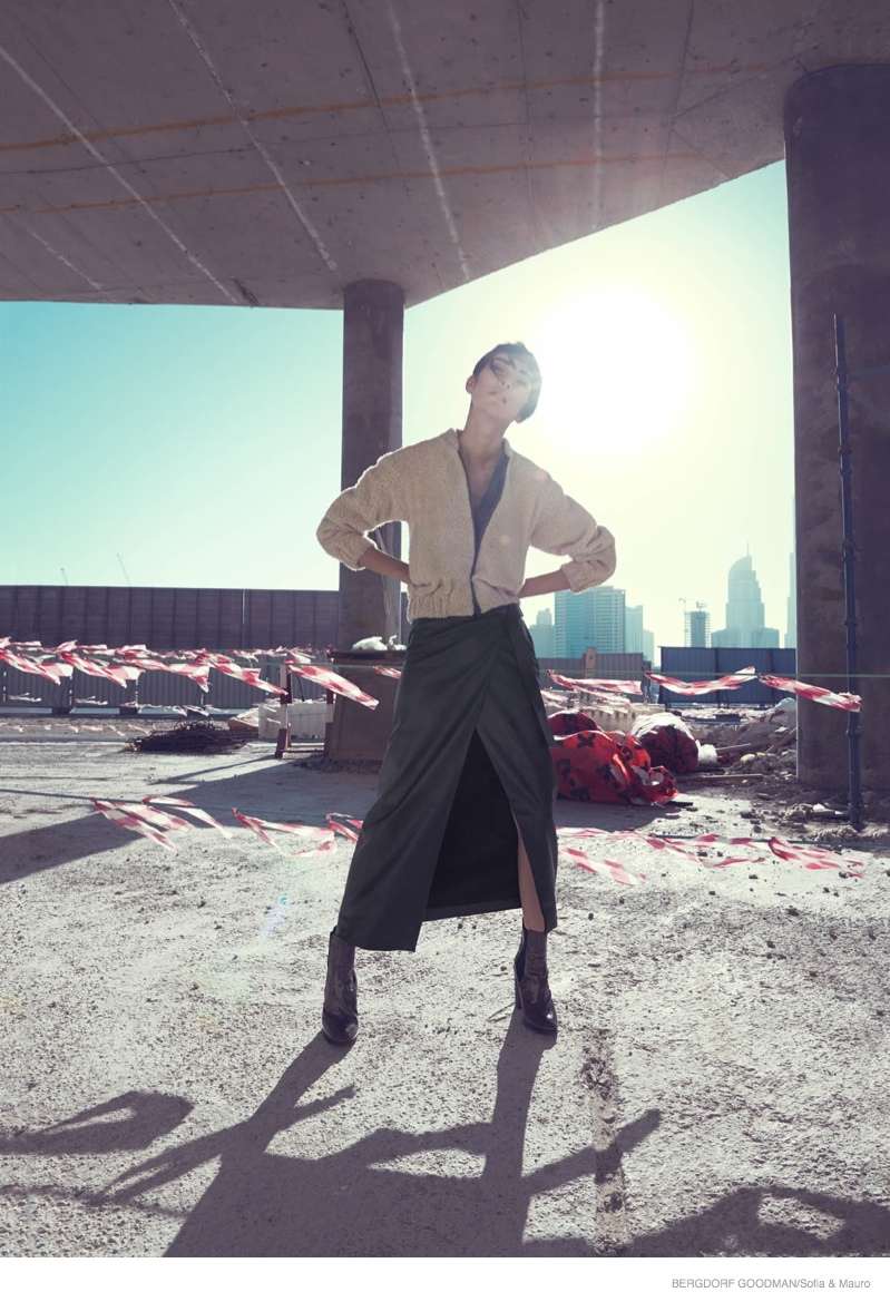 Tao Okamoto for Bergdorf Goodman's Fall Catalogue