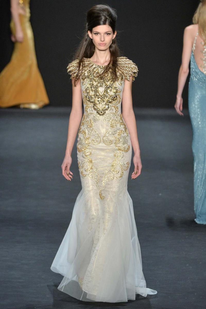 Badgley Mischka Ready to Wear FW 2015 NYFW (34)
