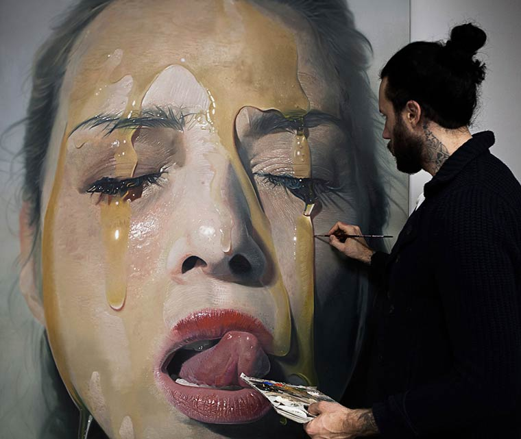 Sticky Hyperrealism Portraits by Mike Dargas