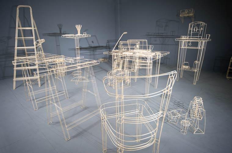 Wooden Blueprint Sculptures by Janusz Grüenspek (8)