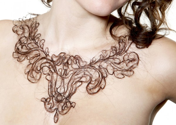 Hair Necklace by artist Kerry Howley