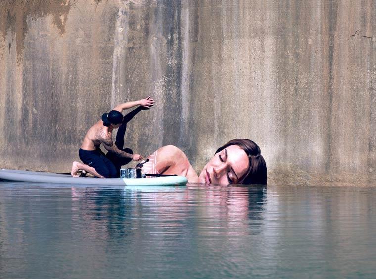Sea Level Street Art by Hula (Sean Yoro)