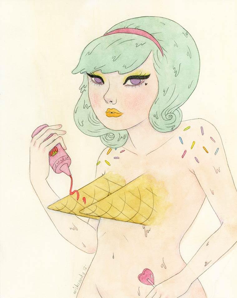 Illustrations by artist Sashiko Yuen (Wishcandy)