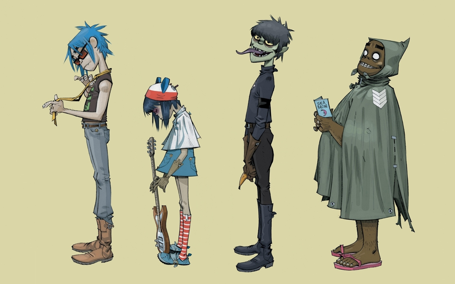 gorillaz recording in sept