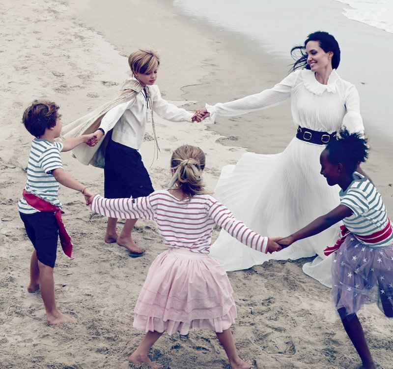 Angelina Jolie & Family by Annie Leibovitz (5)